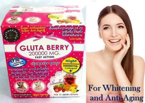 $ US $24.38 GLUTA BERRY 200000 mg Glutathione Whitening Slimming collagen Punch flavor drink Free Shipping