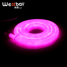 18.5mm*10m/Lot LED Neon Light Free Accessories Neon Bulbs 240V Pink Round LED Neon for DIY Home Lighting Solution Neon Lamp