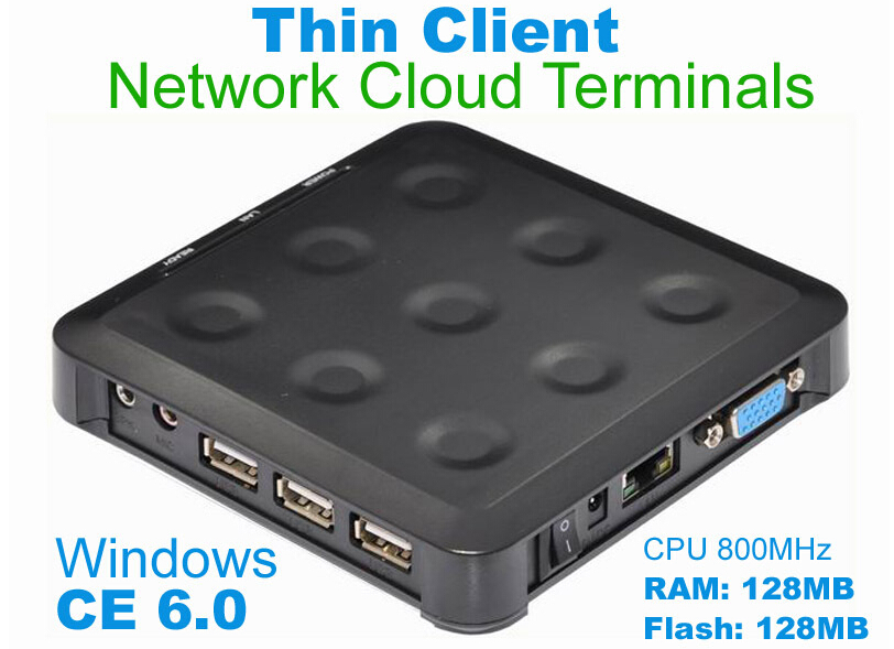N380 (TS660) Cloud Computing Terminal WIN.CE 6.0 Black Windows And linux Server Support One Can up To More Users FREE SHIPPING