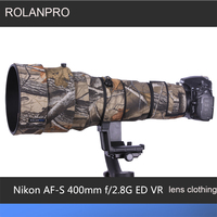 ROLANPRO Lens Clothing Camouflage Camera Coat Rain Cover for Nikon AF S 400mm F2.8G ED VR Lens Protective Case Guns Sleeve