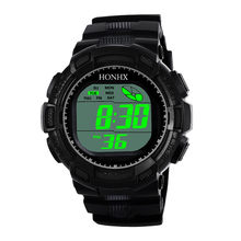 Sanwony Fashion Herren Digital LED Analog Quarz Alarm Datum Sport Armbanduhr smart watch männer sim karte armbanduhr uhr frauen(China)