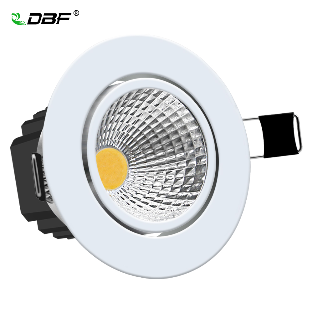 Den nya Super Bright Recessed LED-lampan Dimmable Downlight COB 5W 7W 10W 12W LED Spotlight LED-dekoration Taklampa AC 110V 220V
