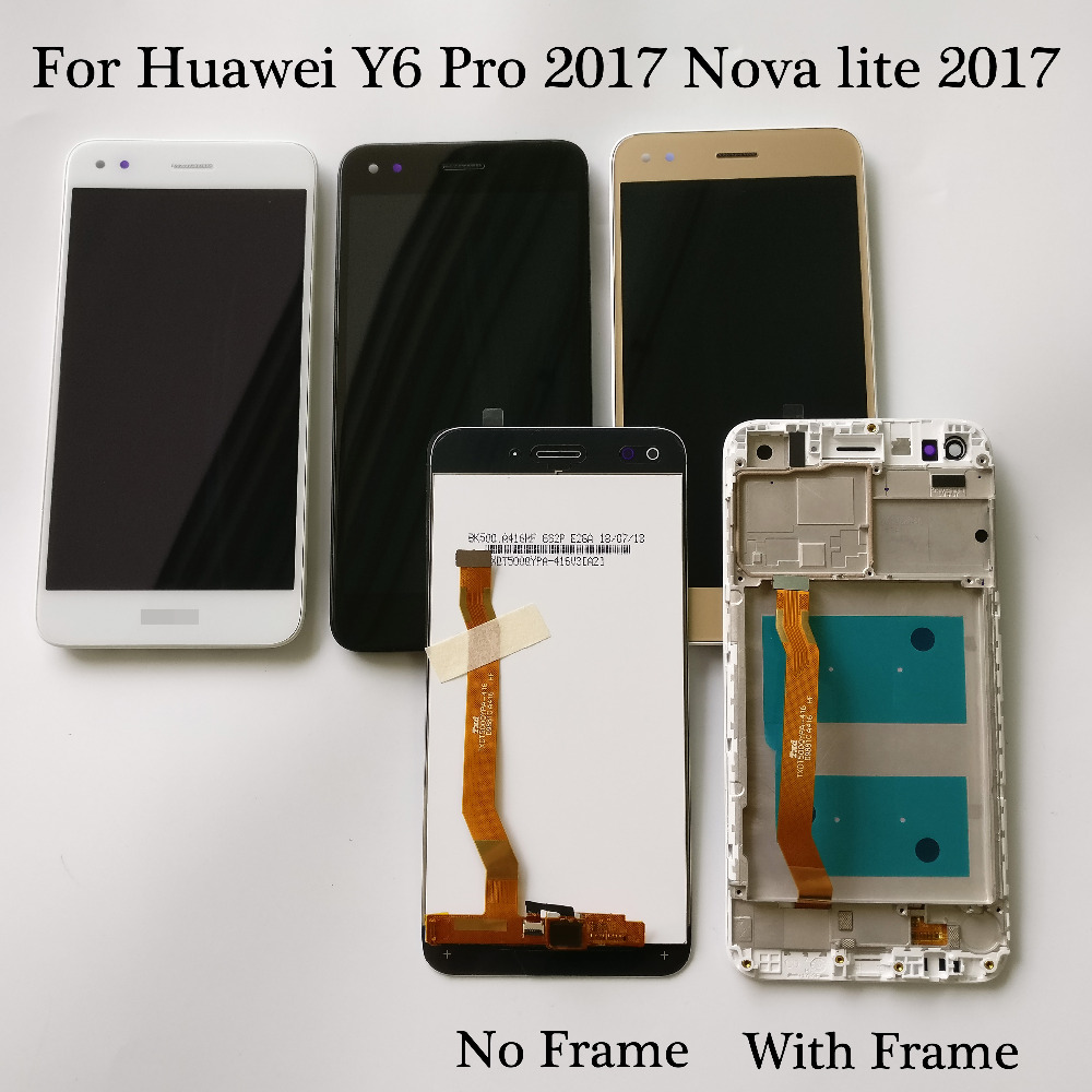For Huawei Y6 Pro 2017 SLA-L02 SLA-L22 / Nova lite 2017 LCD Display Touch Screen Digitizer Assembly With Frame