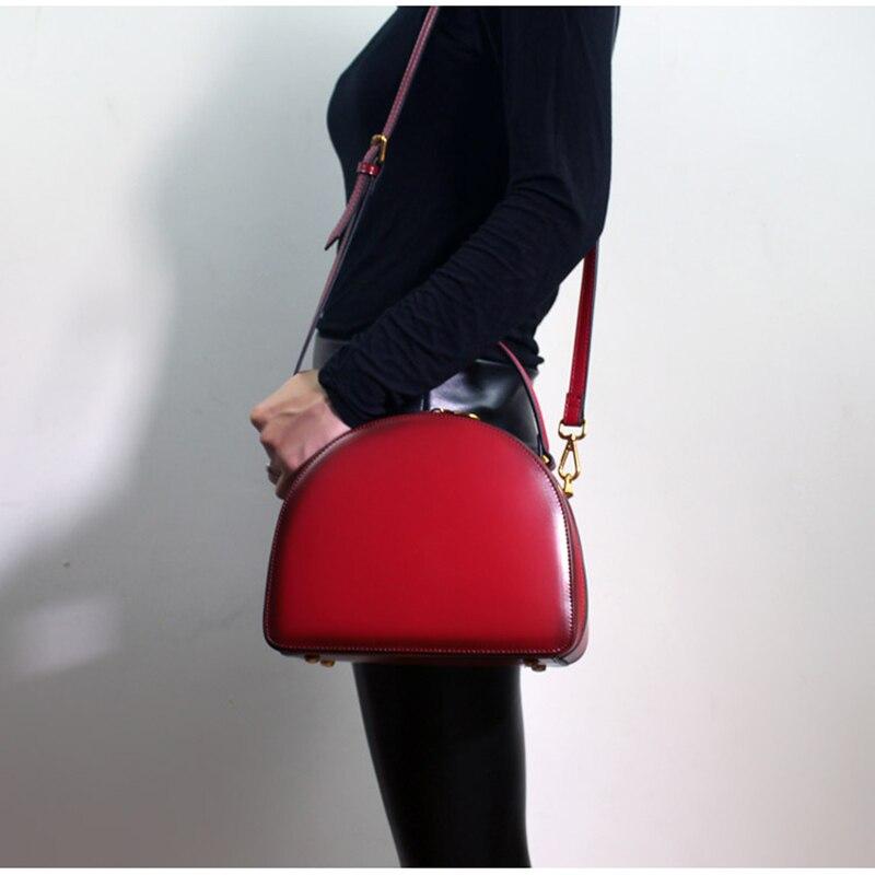 Women Handbag Stylish Shoulder Sling Bags 2018 Latest Handbags Top-handle Messenger Bag Ladies Genuine Leather Crossbody Bags stylish bare shoulder printed women s chiffon top