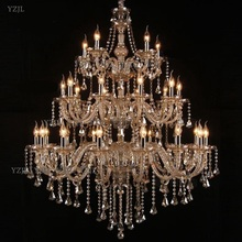 Chandelier K9 crystal pendant chandelier large living room project Villa duplex staircase lighting