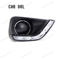 accessory auto part styling For T/oyota V/ios 2014 2015 led drl fog lamps daytime running light