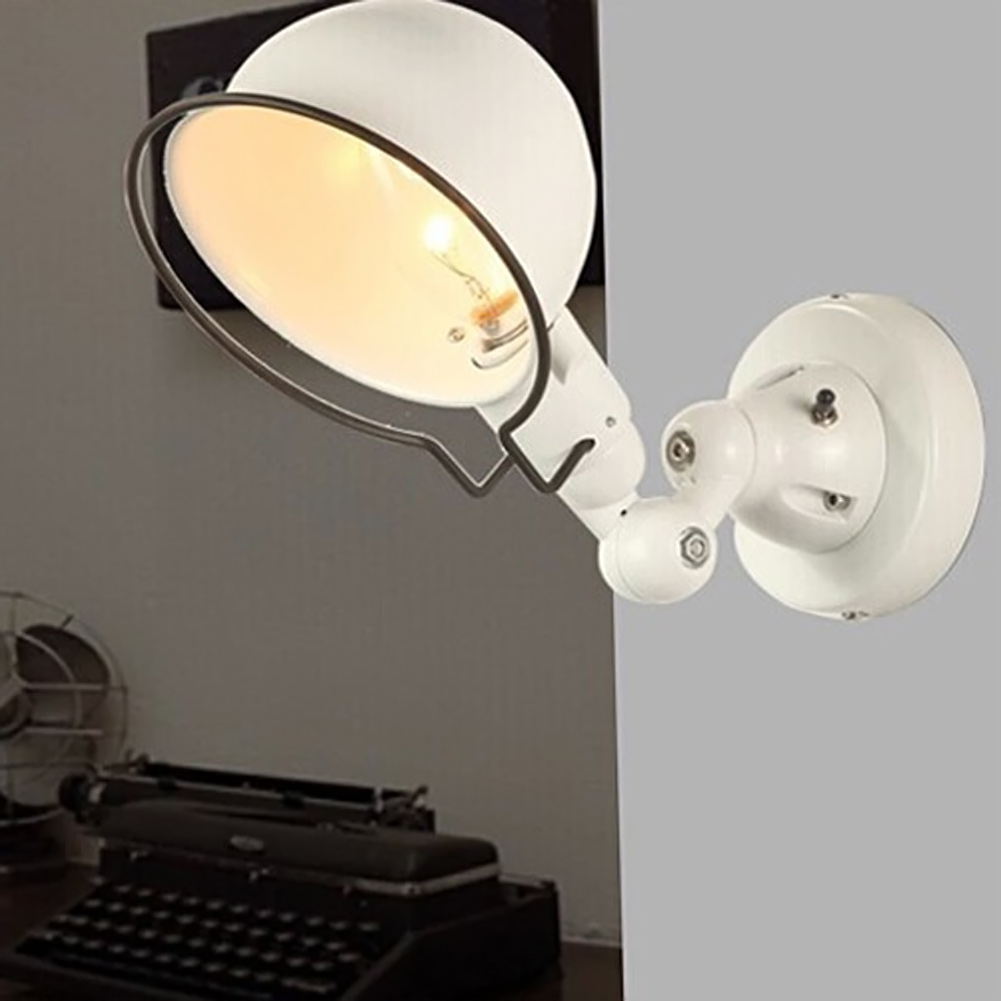 Vintage edison wall lamp industrial mechanical arm france jielde wall lamp reminisce retractable black white light