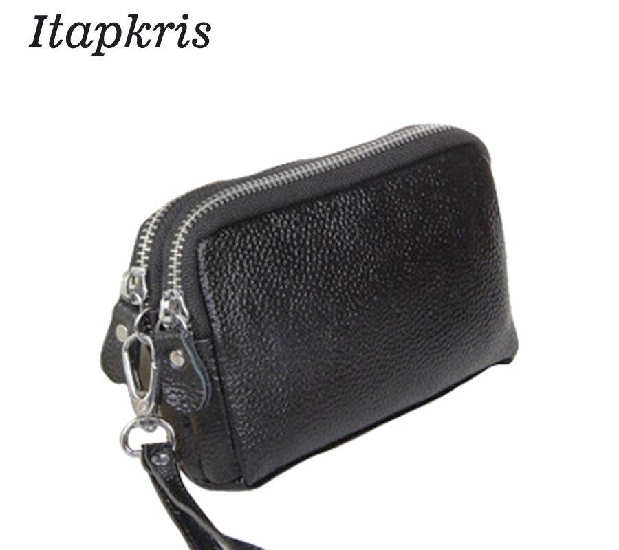 52cd6114d5 Fashion Women Purse PU Leather Clutch Wallet Female Classic Black Coin  Organizer Zipper Phone .