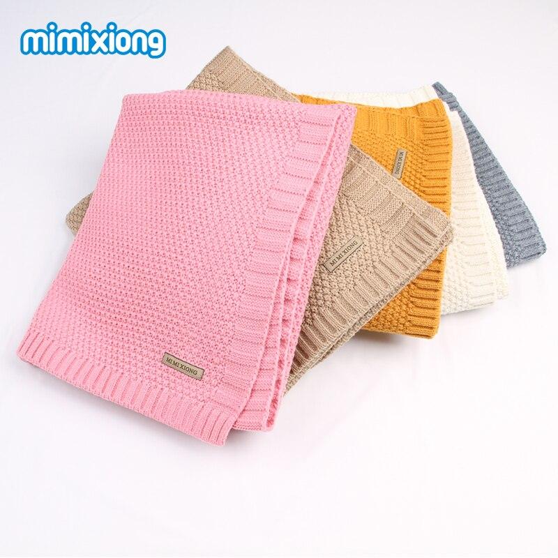 Bebê recém-nascido Swaddle Cobertor Envoltório Inverno Quente Malha Criança Meninos Jogando Celular Queda Crochet Cobertor Musselina Cobertores Criança