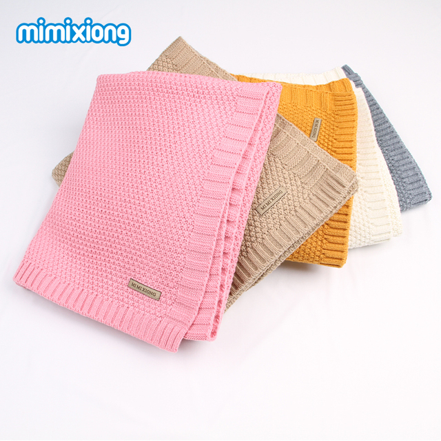 Newborn Baby Swaddle Wrap Blanket Winter Warm Knitted Child Boys