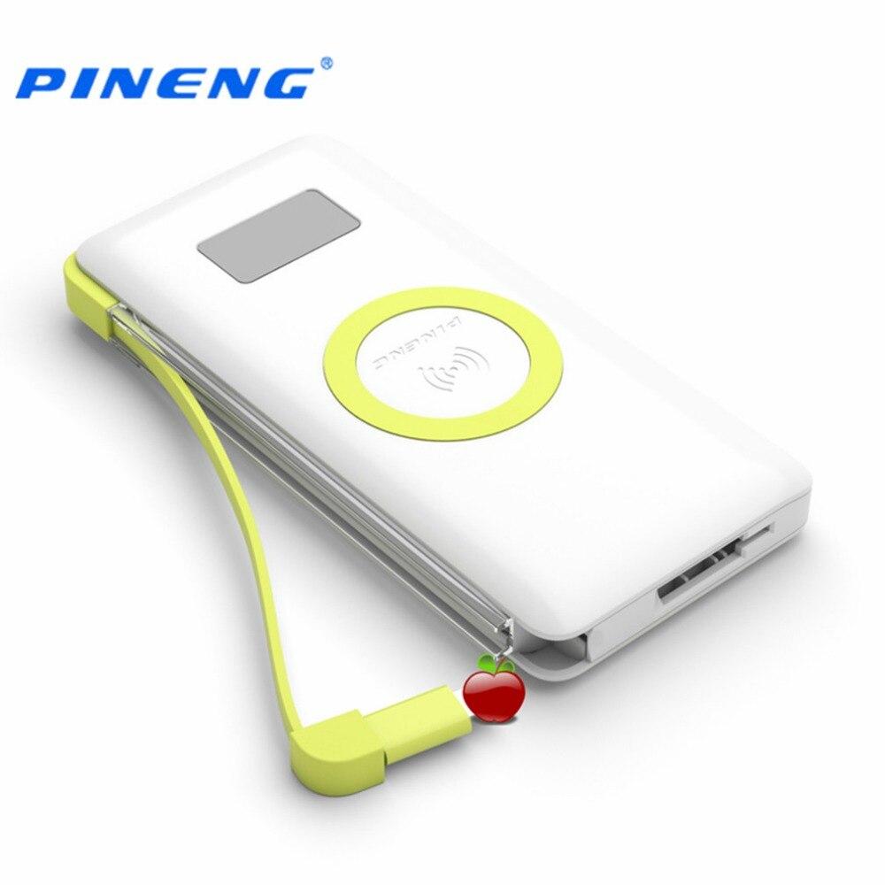 bilder für Pineng pn-888 10000 mah drahtlose lade externe batterie bewegliche bewegliche energie bank eingebaute licht mit wpc q standard