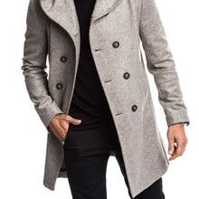 ZOGGA New Spring Autumn Mens Trench Coat Jacket Plus Size Bl