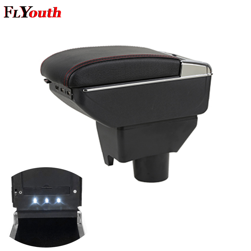 Armrest Box For Toyota Yaris L Vios FS 2014-2018 USB Charging LED Light Arm Rest Rotatable Centre Console Storage BoxArmrest Box For Toyota Yaris L Vios FS 2014-2018 USB Charging LED Light Arm Rest Rotatable Centre Console Storage Box
