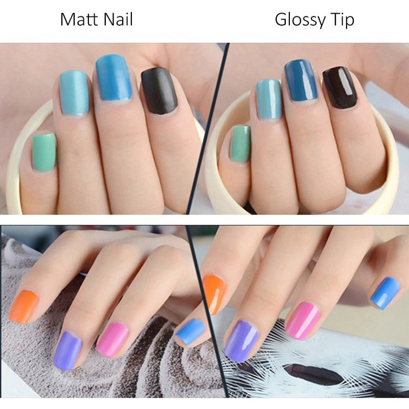 Zation Matte Nail Art Polish Lacquer Varnish Frosted Nail Polish ...