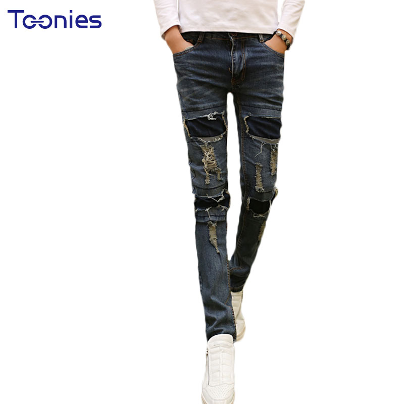 2017 Autumn Fashion Newly Men Slim Jean Trousers Denim Pencil Pants Jeans For Man Hole Patchwork Male Zipper Denim Long Pants александра ишимова история россии в рассказах для детей выпуск 2