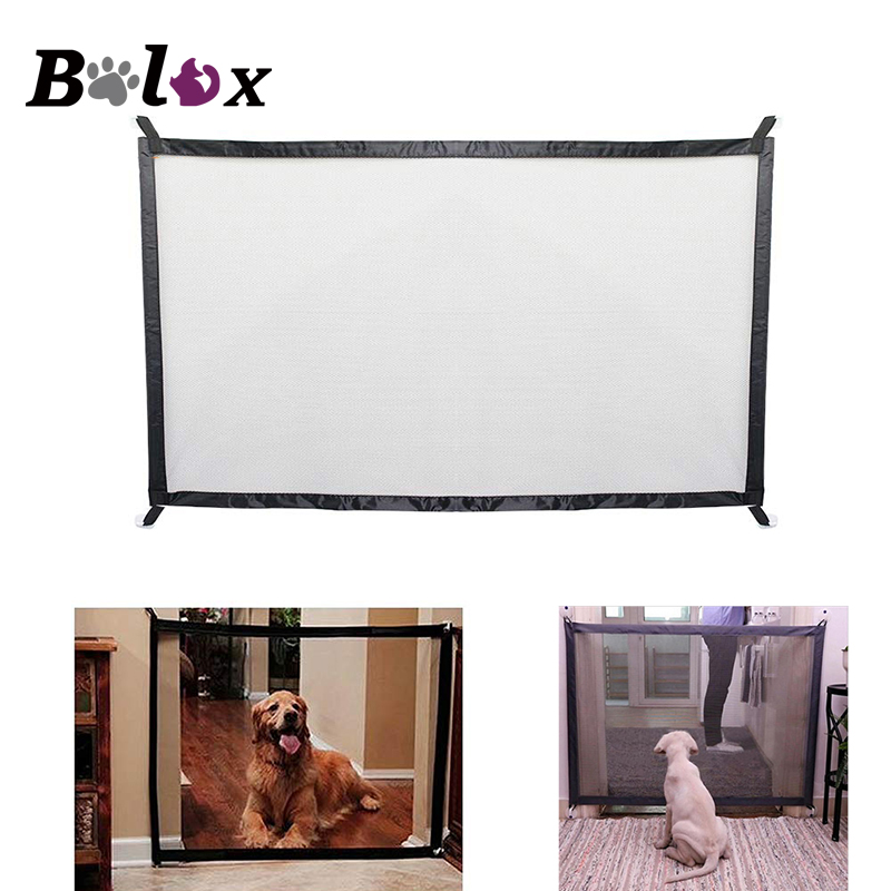Dog Gate The Ingenious Mesh Magic Pet Gate For Dogs Safe Guard and Install Pet Dog Safety Enclosure Dog Fences Dropshipping