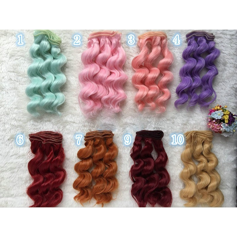 все цены на DCM 15cm High Temperature Heat Resistant Doll Hair For 1/3 1/4 1/6 BJD Diy Curly Wigs 59 Color To choose Free Shipping онлайн