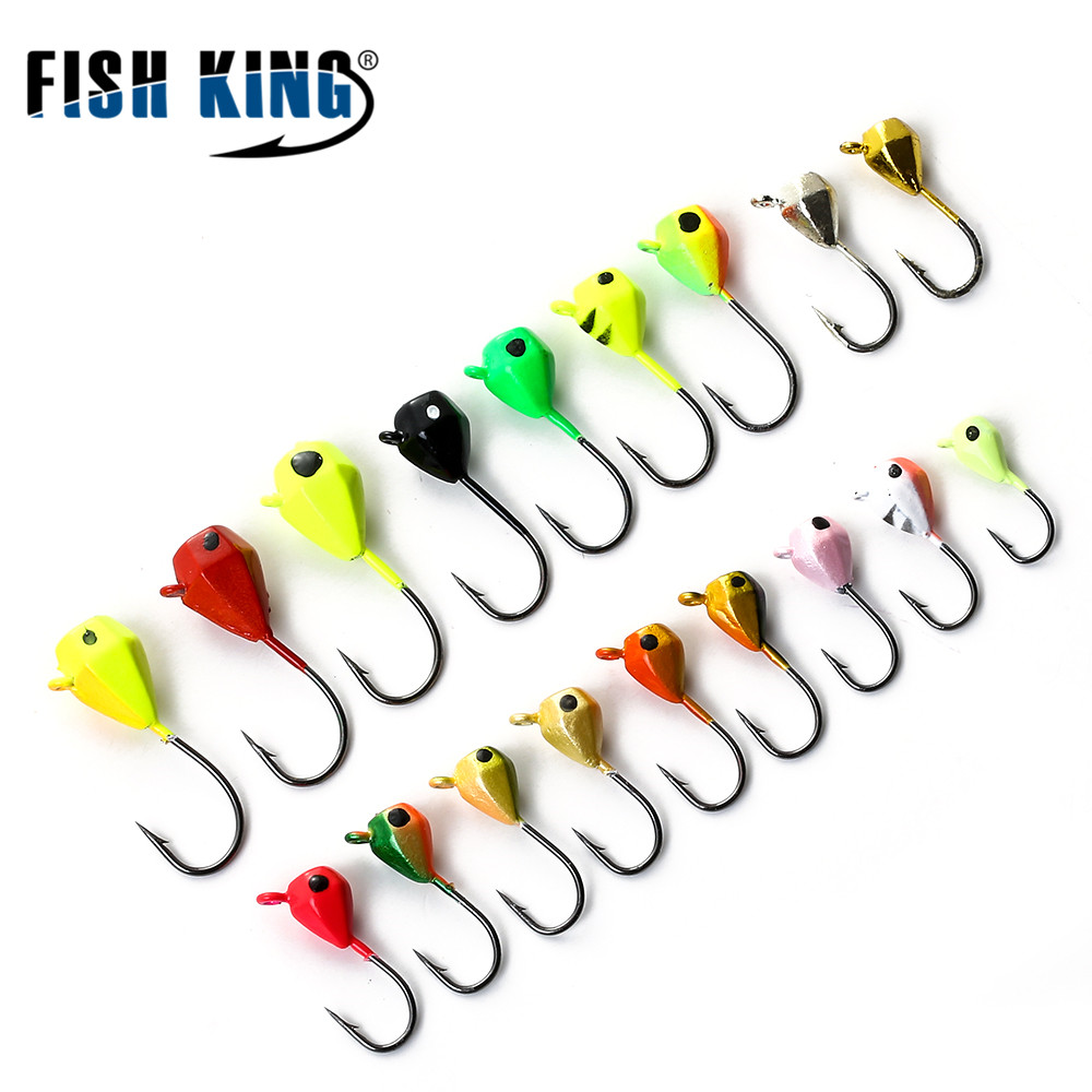 FISH KING 5PCS 1.6g/2.5g/5g Ice Fishing Lure Hard Lure With Bait Jig Lead Head Hook For  Winter Fish рыболовный поплавок night fishing king 1012100014 mr 002