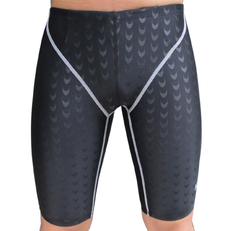 Men Professional Sharkskin Swimming Pants Outdoor Anti-UV Gym Shorts Running Training Surfing Shorts Free Shipping