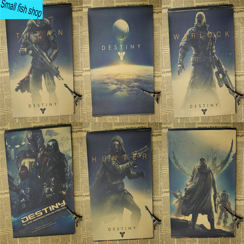 Destiny Game Poster Woninginrichting decoratie Kraft Game Poster Tekeningkern Muurstickers