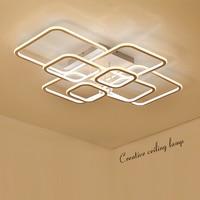 NEO Gleam High Brightness Modern Led Ceiling Lights For Living Room Bedroom Square Circle Rings Avize