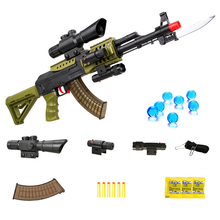 AK47 Orbiz Gun Bursts Toy Gun Water Bullet Gun Children Boys Rifle Pistol Outdoor Live CS Game Manual Rifle Toys For Kids Gifts недорго, оригинальная цена