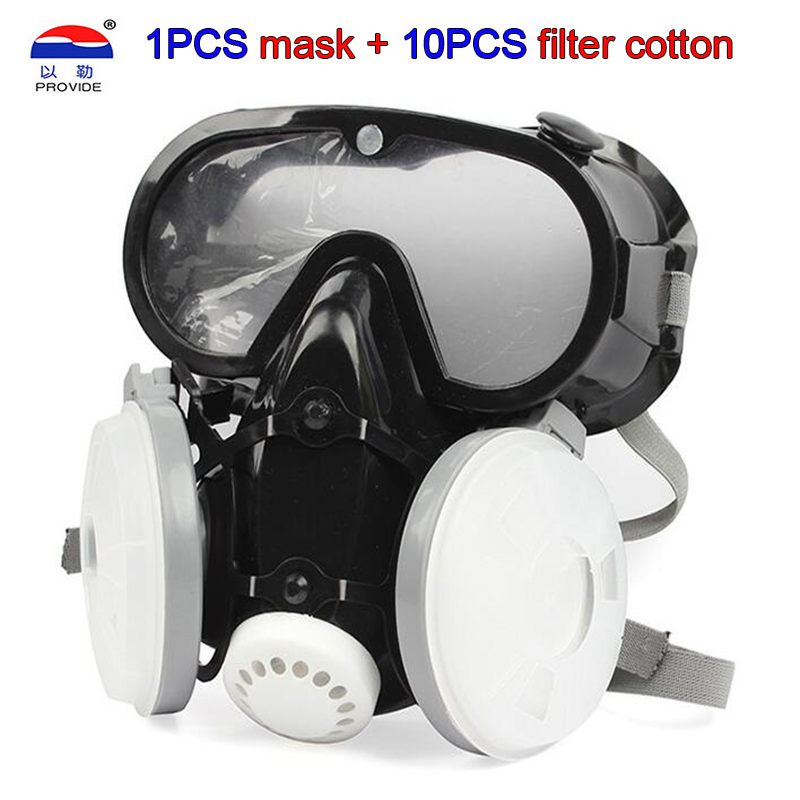 PROVIDE 9600  KN95 Dust Gas Mask  High Quality One-piece Full Face Respirator Mask Spray Paint Smoke Synthesis Protective Mask