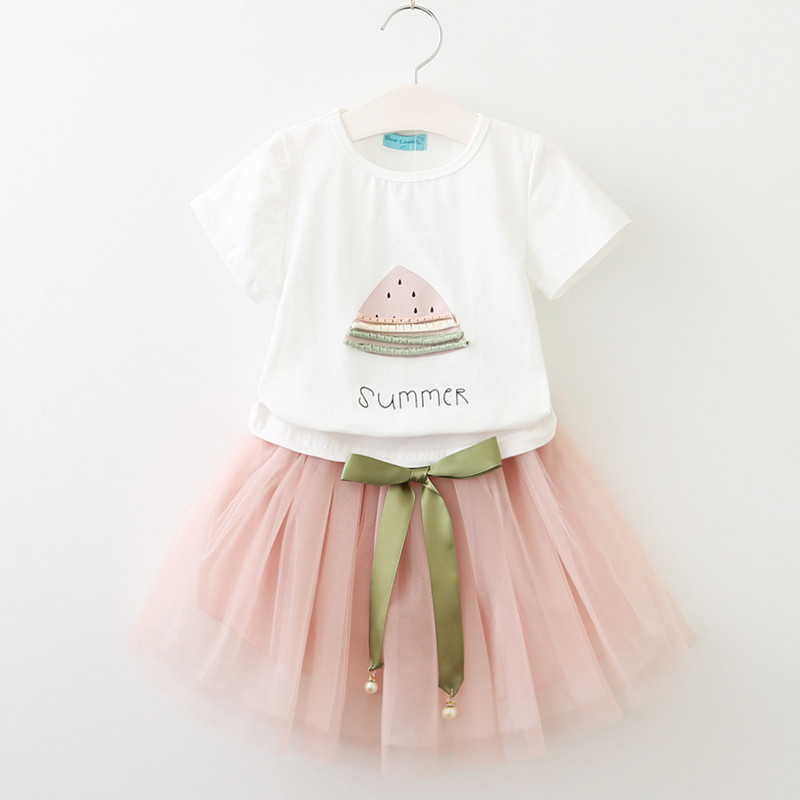 Childrens clothing over the age of 2 girls suit T-shirts and skirts good childrens clothes 2018 new childrens clothing