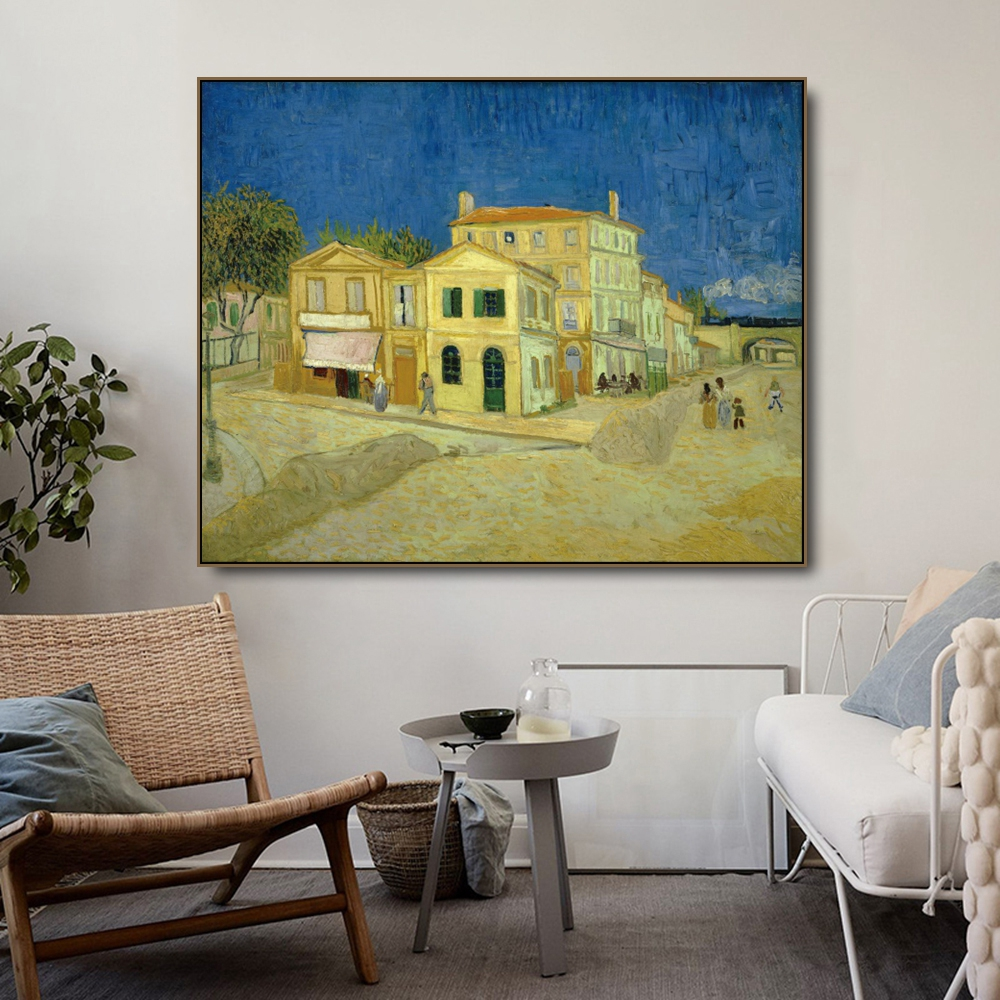 Home in Alle by Vincent Van Gogh Posters and Print Canvas Painting Calligraphy Wall Pictures for Living Room Bedroom Home Decor in Painting Calligraphy from Home Garden