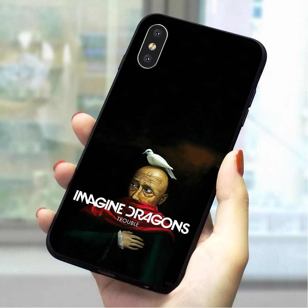 Imagine dragons noche música suave TPU cubierta para iPhone 7 funda de teléfono de moda para iPhone 7 Plus 8 X Xs Max XR 5 5S iPhone 6 s 6 s suave