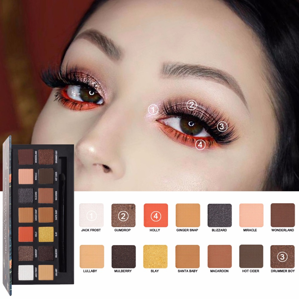 HANDAIYAN 14 Color Eye Shadow Pearlescent Matte  Eyeshadow Makeup Plate