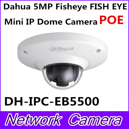 Dahua Newest Vandalproof 5MP Full HD IP FISHEYE Camera W/POE DH-IPC-EB5500 IPC-EB5500 EB5500 Mini IR IP Dome Camera Without Logo dh ipc ebw8600 original dahua full hd panorama 360 degree ip camera 6mp fisheye dome network camera ipc ebw8600