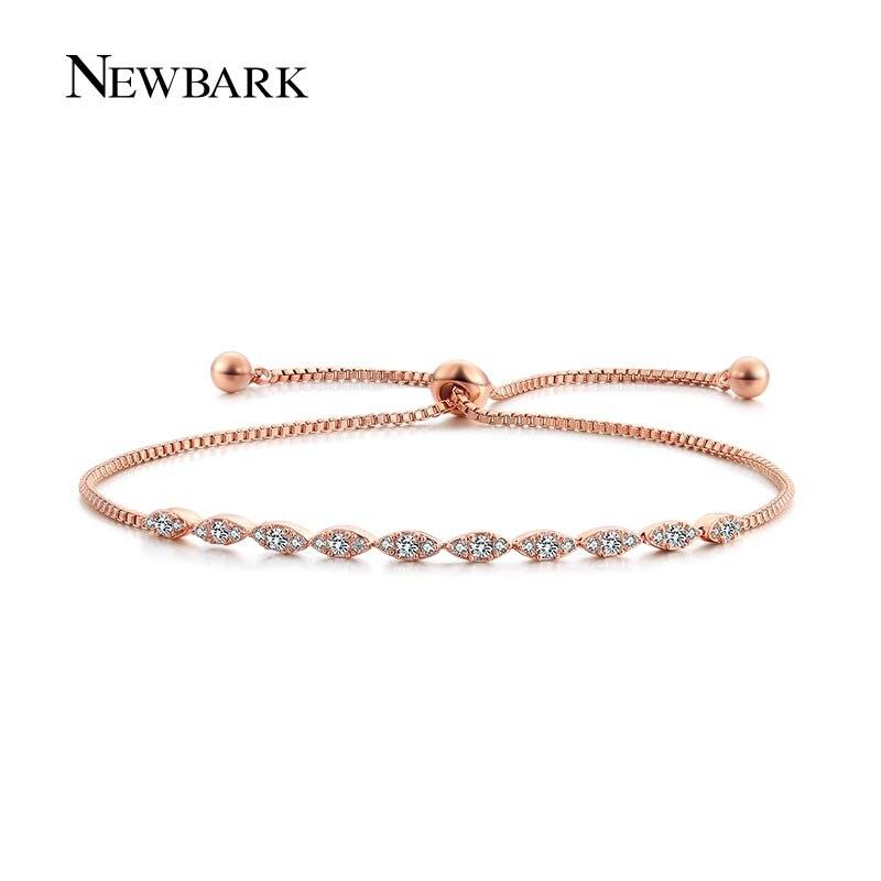 Prix pour NEWBARK Bracelet Femme Femmes Bracelets Or Rose Couleur Infini Bracelet Amour Accessoires OL Style Main Chaîne Cadeau Charme Bijoux