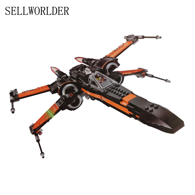 building bricks 05004 First Order Poe's X Fighter Wing Star Play Wars 748pcs Building Blocks Toys for Boys hot sale building blocks assembled star first wars order poe s x toys wing fighter compatible lepins educational toys diy gift