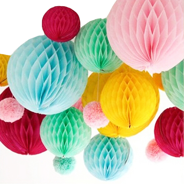 Paper Balls Decoration Custom Promotion Wedding Decoration 5Pcs 10''25Cm Tissue Paper Balls Design Decoration