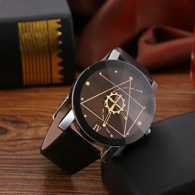 Creative Personality Minimalist Leather Men & Women Watches Analog Watch Casual Wristwatch  LXH