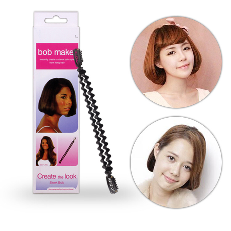 Plasitc Hair Braid Maker Creating BOB Hair Roller Twist Clip Stick Long Hair Change Short Home DIY Hair Braiders Styling Tools