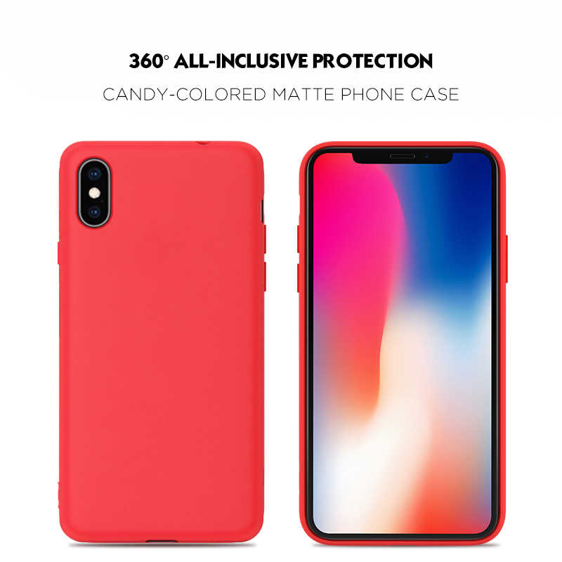 Funda protectora de silicona mate para iPhone X XS Max XR 7 8 6 6S Plus funda de Color sólido suave para iPhone X XR