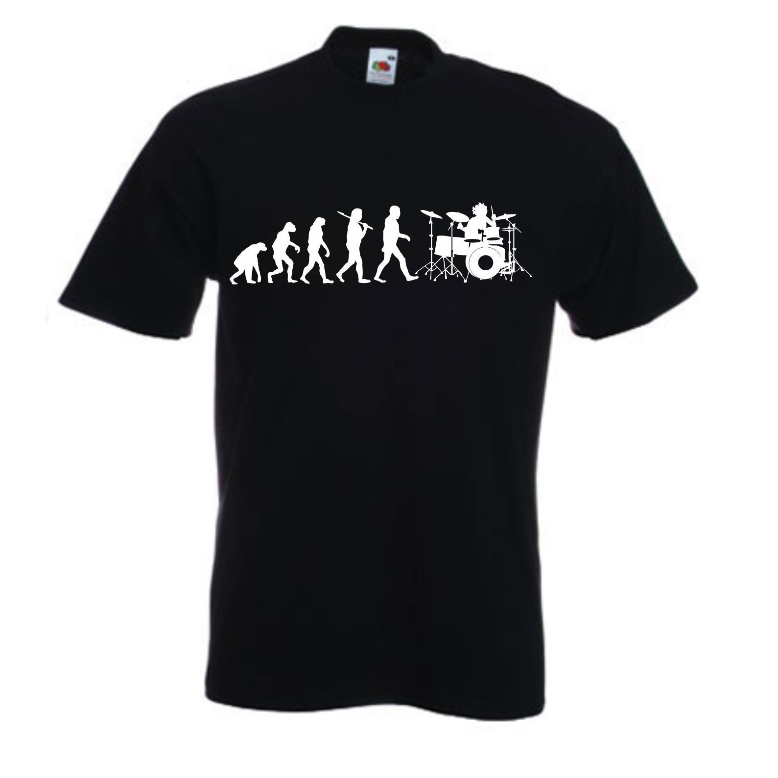 EVOLUTION OF DRUMMING T SHIRT BAND TSHIRT ROCK T SHIRT DRUM DRUMMER New T Shirts Funny Tops Tee New Unisex Funny Topsfree shipng in T Shirts from Men 39 s Clothing