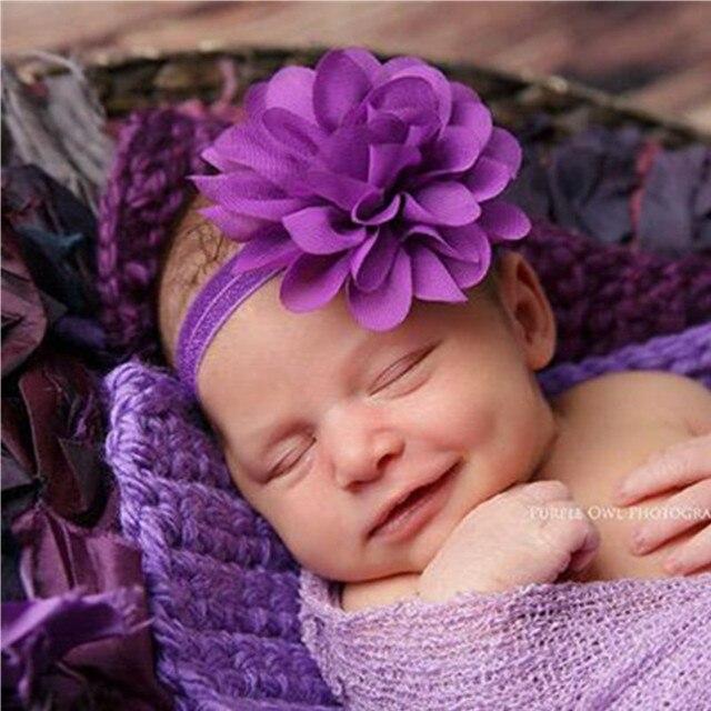 10CM Big Chiffon Flower Headband Royal Blue Flower Headband Kids Newborns  Little Girls Hair Accessories Photography Headband 03fd0c6f885