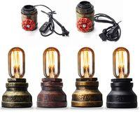 Smuxi Vintage Water Pipe Wall Lamp Steam Punk Loft Industrial Iron Rust Retro E27 110V 240V Home Bar Decor Lighting Fixtures