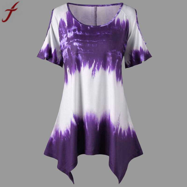 Summer Fashion Large Size Women Printing Blouse And Shirt  Plus Size O-Neck Short Sleeve Tunic Shirt  Casual Lady Big Size Tops# 5