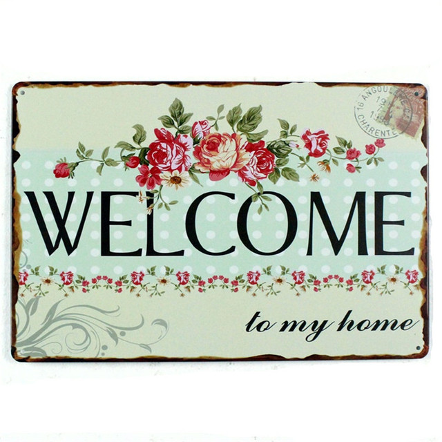 Buy Welcome To My Home Vintage Home Decor 20 30 Retro Metal Tin Signs Poster