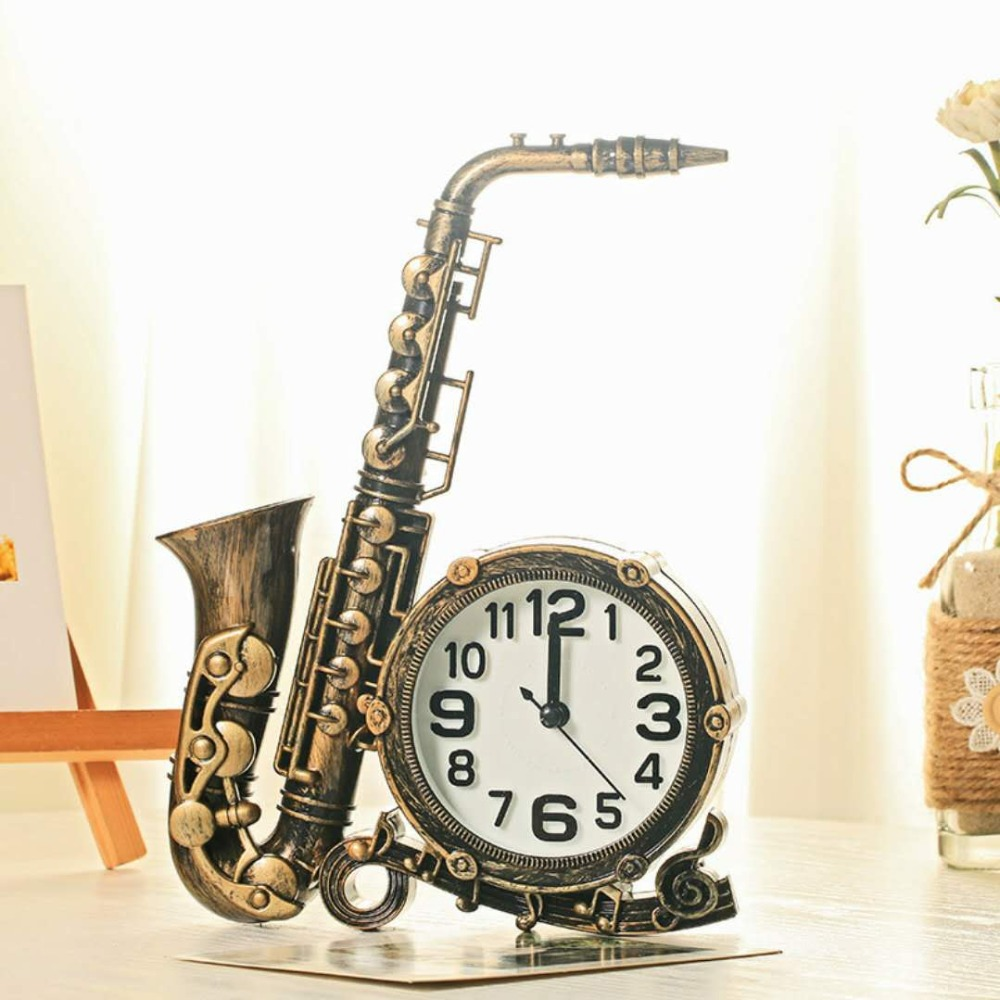 Fashion Classical Saxophone Alarm Clock Home Decoration Children S Bedroom Bedside Alarm Clock Multi Range Athens Sax Clock 3 Alarm Clocks Aliexpress