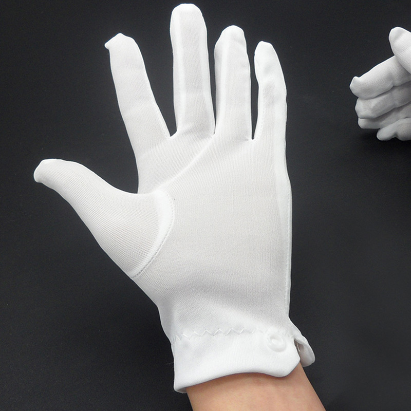 1pair work gloves mechanic White buckle cotton gloves ceremonial work glove Waiters driver quality inspection Safety Breathable 1pair work gloves mechanic White buckle cotton gloves ceremonial work glove Waiters driver quality inspection Safety Breathable