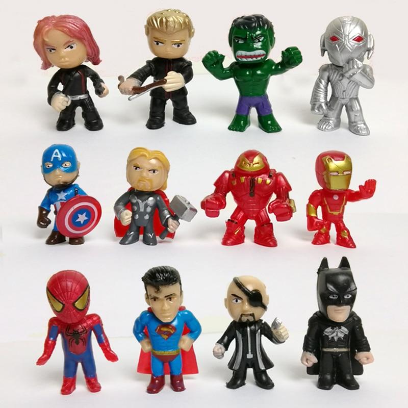 Wholesale 20 sets new toys mini the Avengers Figures PVC model Batman Hulk Thor action Toys