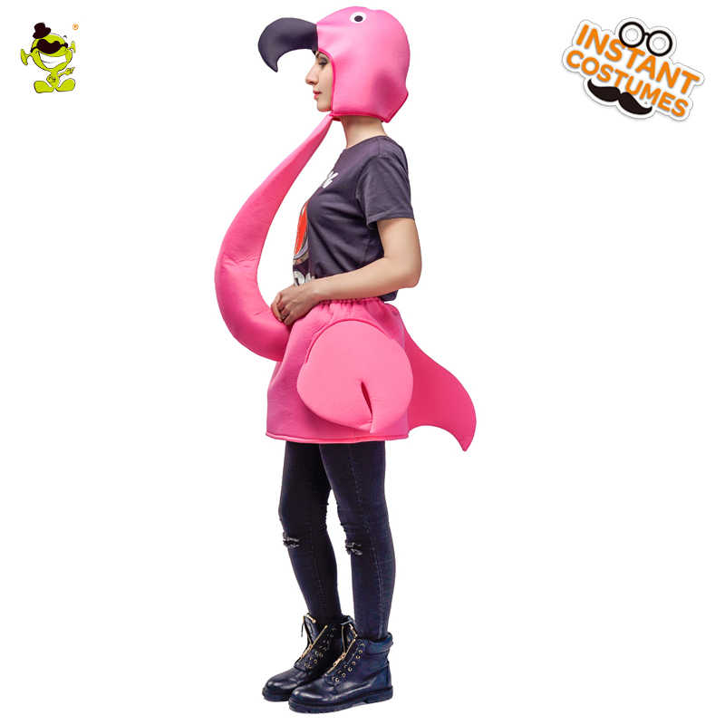 6a07f134 ... Halloween Party Adult Women's Flamingo Cosplay Carnival Party  Masquerade Lady's Pink Flamingo Costumes ...