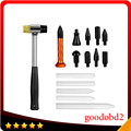Herramienta Knockdown Kits de Herramientas Dent Removal Tool + PDR PDR Martillo De Goma para Automoción de Reparación de la Abolladura Auto Body Dent Removedor de Mano herramienta