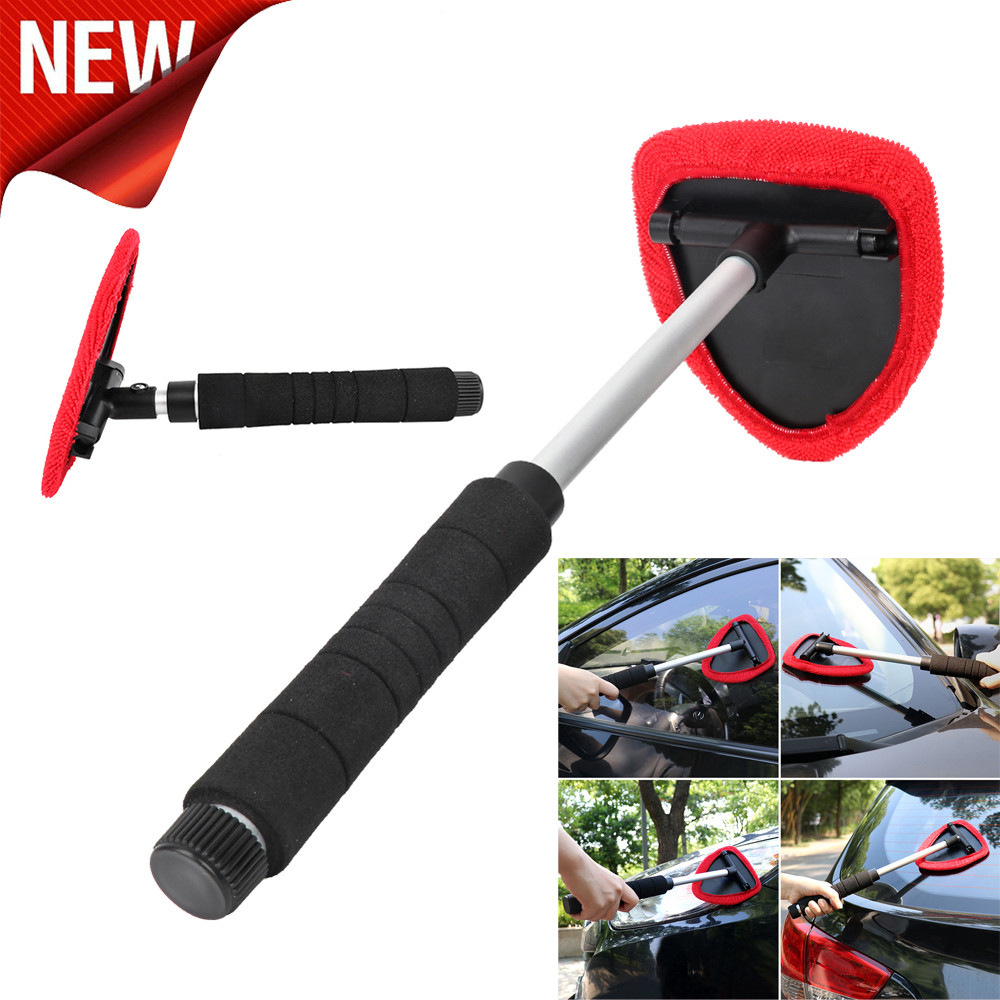 Red And Black Telescopic Rotary Automotive Windshield Superfine Fiber Cleaning Brush Car Styling Dropshipping #YL6