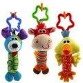 1 unid toys 3 diseño sonajero campana de mano del bebé multifuncional cochecito de bebé de juguete de felpa regalos móvil 3 m +